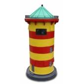 Leuchtturm gelb-rot