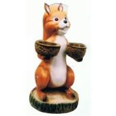 Großes Eichhörnchen mit 2 Schälchen