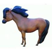 Pony mit langer Mähne