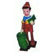 Pinocchio groß mit Sack