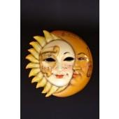 Maske Sonne-Mond Gelb