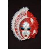 Maske Stella Weiß-Rot