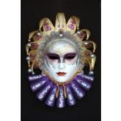 Maske Flaminia Lila-Gold