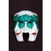 Maske Pulcinella Grün