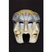 Maske Pulcinella Silber