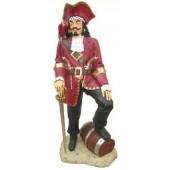 Piraten Kapitain mit Fass