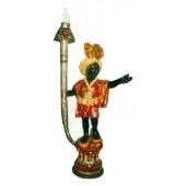 kleiner Mohr bunt stehend mit Lampe