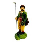 Golf Caddy mit Tasche am Loch klein