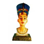 ägyptischer Frauenkopf als Büste farbig gold
