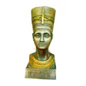 ägyptischer Frauenkopf als Büste bronze