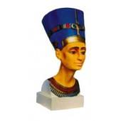 ägyptischer Frauenkopf als Büste farbig weiß