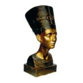 ägyptischer Frauenkopf als Büste Altgold