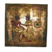 goldenes ägyptisches Wandgemälde Hieroglyphen