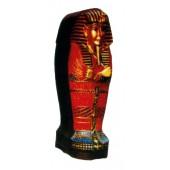 kleiner farbiger ägyptischer Sarkophag