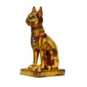 kleine ägyptische katze in gold