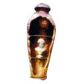 antike Vase mit 2 Glasböden