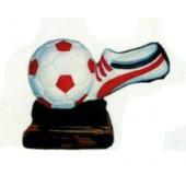 Fußballschuh mit Fußball als Pokal