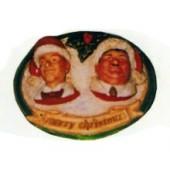 Dick und Doof verkleidet als Weihnachtsmänner