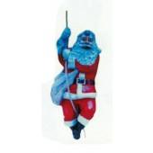 hängender Weihnachtsmann am Seil mittel