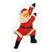 Weihnachtsmann pendelt am Seil