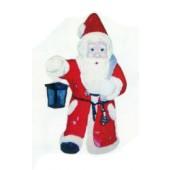 laufender Weihnachtsmann mit Laterne in der Hand