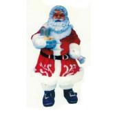glücklicher Weihnachtsmann mit Geschenken und Glocke