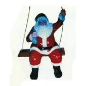 Weihnachtsmann auf Schaukel klein