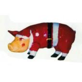 Schwein verkleidet als Weihnachtsmann