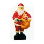 kleiner Weihnachtsmann mit Sack voller Geschenken