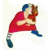 Clown im Nachthemd klein mit Häschen