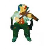 sitzender Clown mit Geige klein