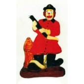 Clown klein als Feuerwehrmann