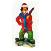 Clown als Skifahrer klein