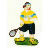 Clown als Tennisspieler klein
