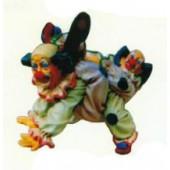 Clownpaar macht Faxen