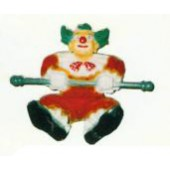 Clown hängend an Schaukel klein