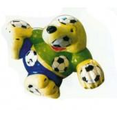 lustiges Fußballmaskottchen