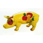 kleines Schwein mit Gemüse bemalt