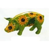 Schwein mit Sonnenblumen klein