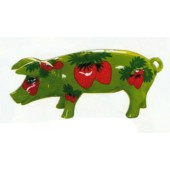 kleines Schwein mit Erdbeeren