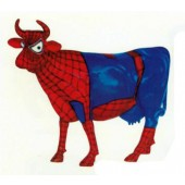 lebensgroße Spiderkuh Spiderman
