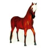 kleines braunes Pferd mit blonder Mähne