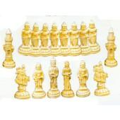großes Schachspiel für Garten Set helle Figuren