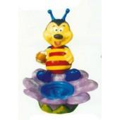 bunte Biene auf Blüte als Blumentopf Variante 1