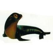 große Seerobbe mit gedrehtem Kopf