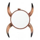 Spiegel mit Stierhörnern