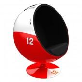Kugelsessel Rot Weiß 12