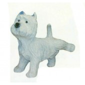 West Highland Terrier pinkelnd