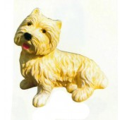 West Highland Terrier liegend