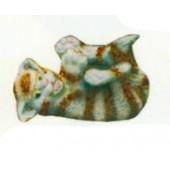 verspielte Katze braun weiß gestreift